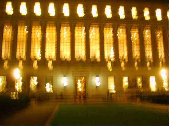 Impressionistic photo of Butler Library by Alison Winfield-Burns