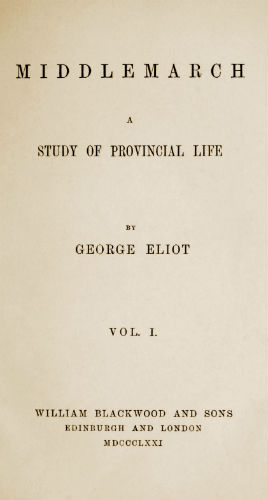 First edition title page of Middlemarch
