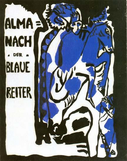 Wassily Kandinsky, cover of Der Blaue Reiter almanac, c.1912