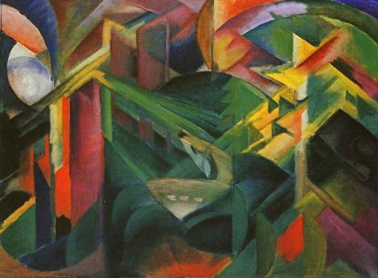 Between Something And Nothing Franz Marc S Authorial Ether Empty Mirror