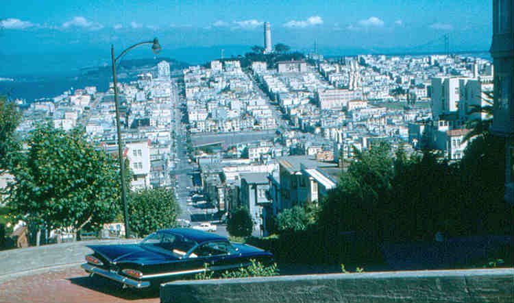 San Francisco - Telegraph Hill from Lombard Street