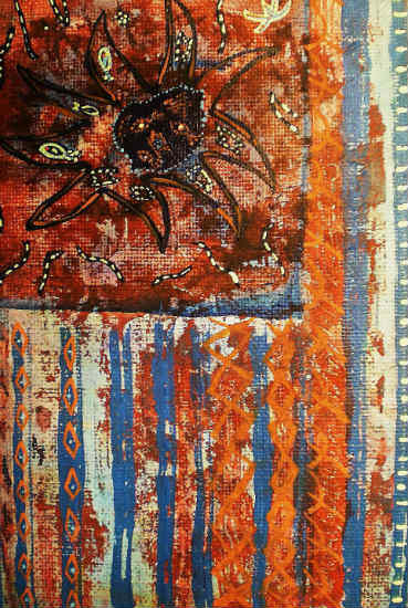 Wall-Flag in Dream of Yiannis Ritsos - Warren J. Cox painting