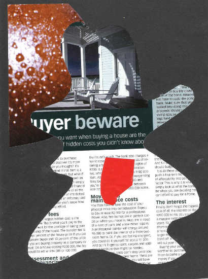 Beware - collage by Gary Cummiskey