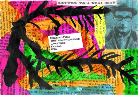Letter to a dead man - Gary Cummiskey collage