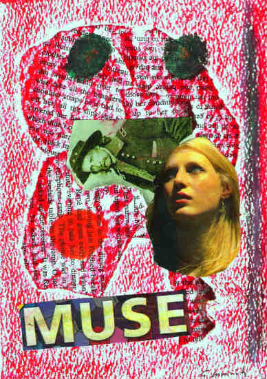 Muse - collage by Gary Cummiskey