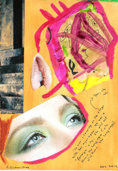 She was standing on the steps - Gary Cummiskey collage