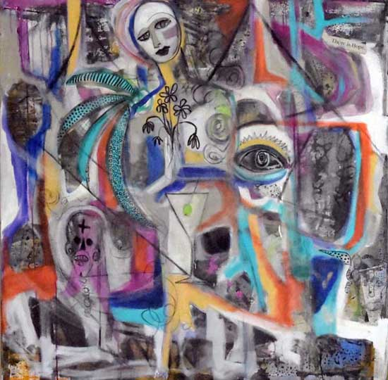 Street Madonna Painting - Mardi de Veuve Alexis