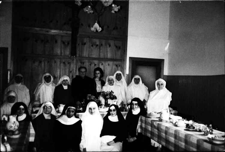 Alison, center back row, Confirmation luncheon at St. Antonio, 1984