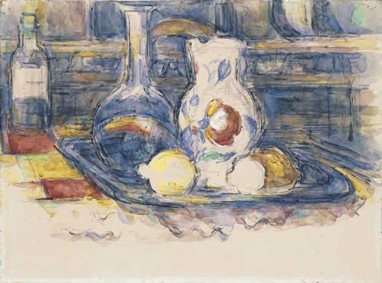Paul Cézanne: Bottle, Jug and Lemons (1902-1906)