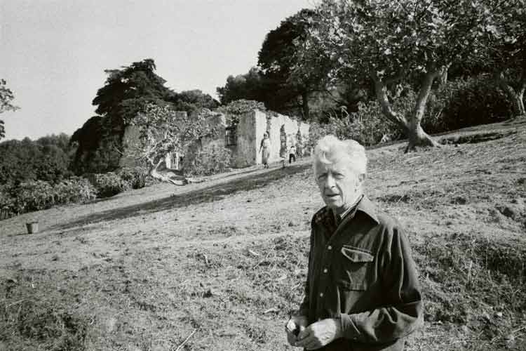 Paul Bowles outside of Tangier - photo by Mark Terrill