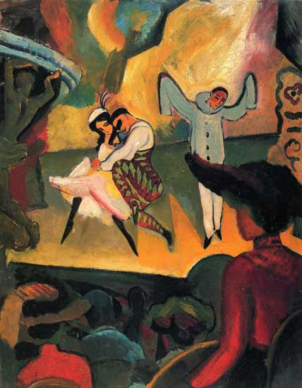 Fig.02: August Macke, Russisches Ballet (I), 1912. (Oil painting, 103 x 81 cm.) Kunsthalle Bremen, Germany.