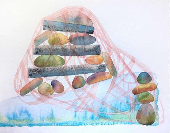 Anchored to Stranger - Mattina Blue