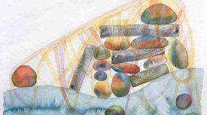 watercolor (detail)- Mattina Blue