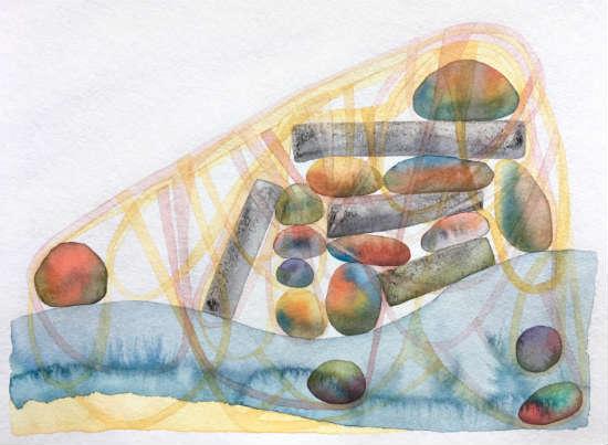 watercolor - Mattina Blue