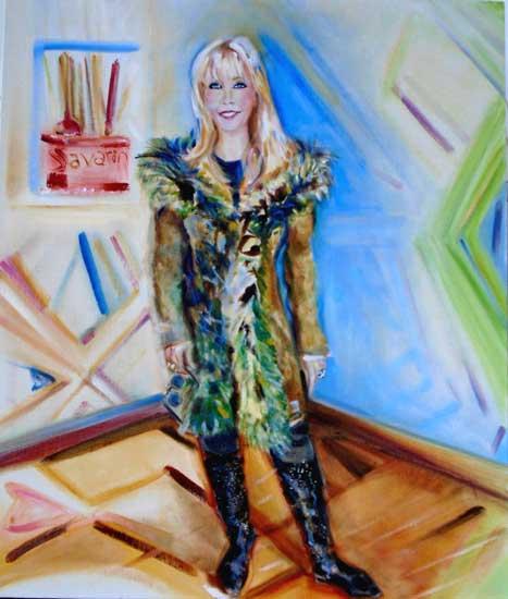 Donna Glitterata aka Mrs. Henry Bushkin by Alison Winfield-Burns, oil on linen, 24 x 36 inches, 2018