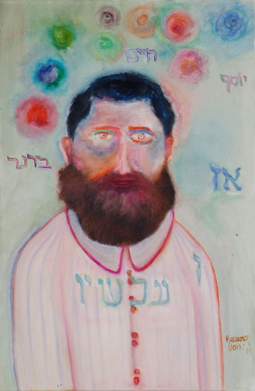 The late Israeli Author, Yosef-haim Brener -- Ishay Rossano painting