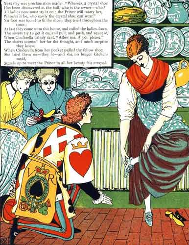 Cinderella illustration by Walter Crane
