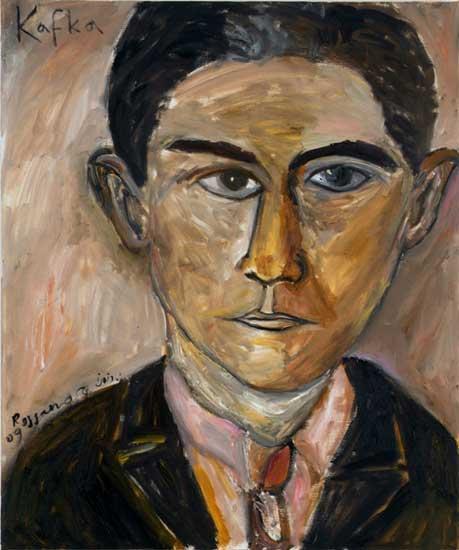 Franz Kafka -- painting by Ishay Rossano