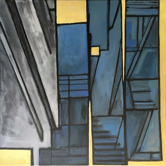 Whispering Buildings - painting by Nathalie Tierce