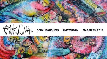 Rik Lina art exhibit: Coral Bouquets, Amsterdam, March 25, 2018