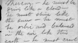 Walt Whitman's Talbot Wilson Notebook page