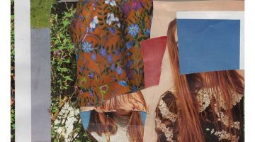 lawn portrait (detail) - collage by Jack Felice