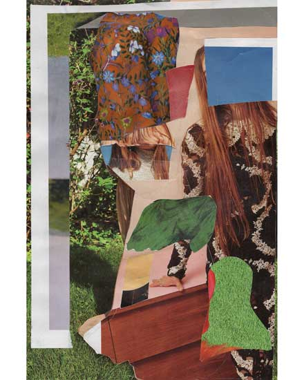 lawn portrait - collage by Jack Felice