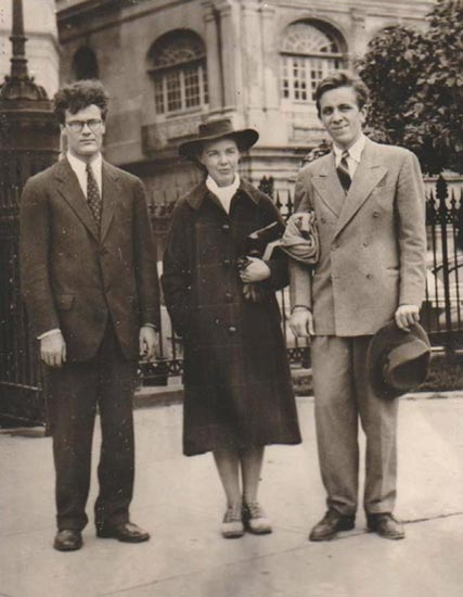 Robert Lowell, Jean Stafford, and Peter Taylor, 1941. Photo by Robie Macauley