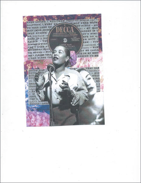 Billie 3 - Steve Dalachinsky collage