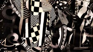 Black and White (detail) - Janina Aza Karpinska collage