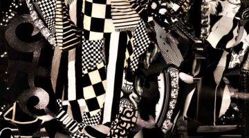 Black and White (detail) - Janina Aza Karpinska collage