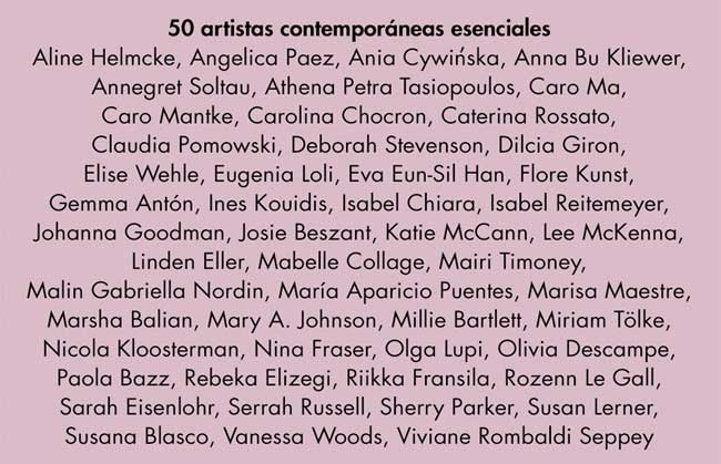 contributors to Collage by Women: 50 Essential Contemporary Artists, edited by Rebeka Elizegi