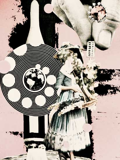 Microchipped Love - collage by hiromi suzuki