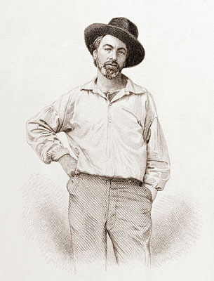 Walt Whitman portrait, Leaves of Grass frontispiece