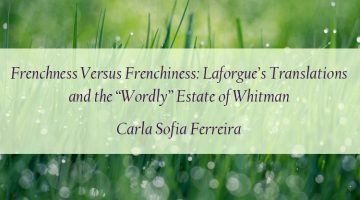 Carla Sofia Ferreira - Walt Whitman Laforgue