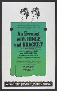 Royal Court poster for An Evening with Hinge and Bracket