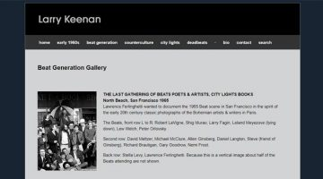 Larry Keenan Beat Generation photo gallery
