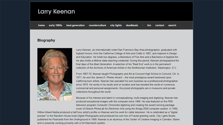 Larry Keenan photography website