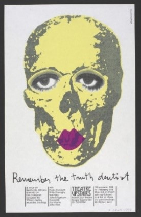 Royal Court poster for Remember the Truth Dentist