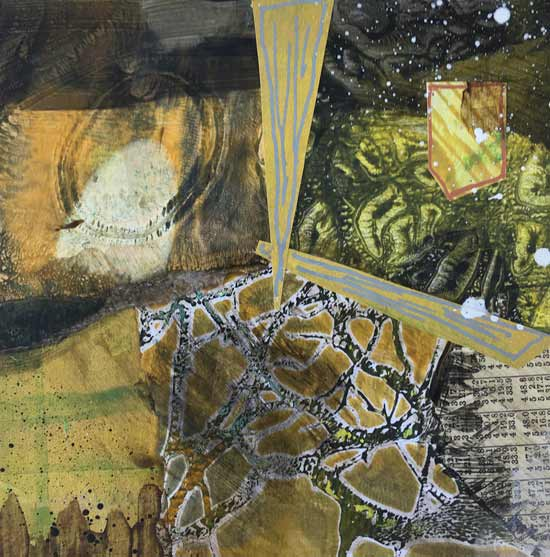 freeze tag - Kelly Schaub mixed media collage