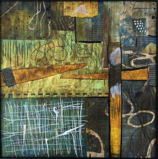 obstacle course - Kelly Schaub mixed media collage