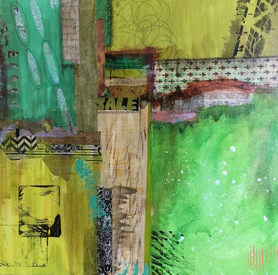 regrowth - Kelly Schaub mixed media collage