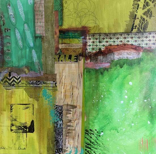 regrowth - Kelly Schaub mixed media collage