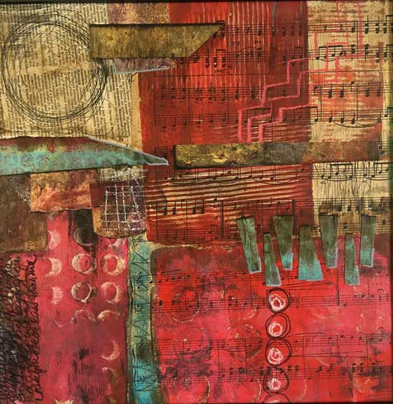 the deep end - Kelly Schaub mixed media collage