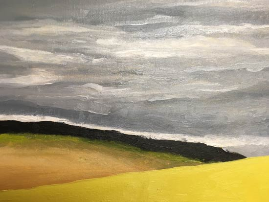 2 Yellow Hills - painting by Judith Skillman