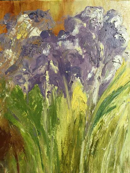 Irises - painting by Judith Skillman