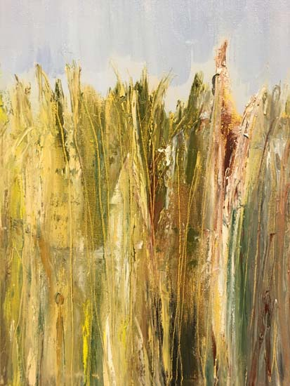 Sequim wild grasses - painting by Judith Skillman