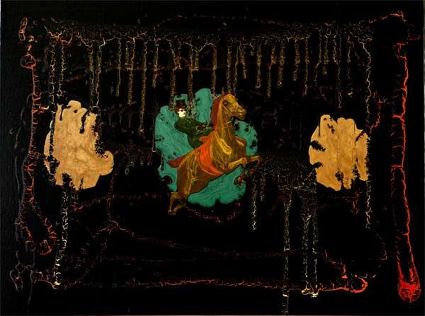 Victoria Astride the Serpent Horse - Silas Plum