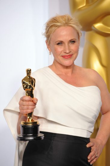Patricia Arquette at the Academy Awards, 2015 / Jaguar PS via Shutterstock