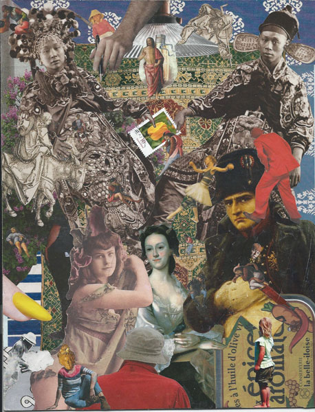 actual size collage - Steve Dalachinsky